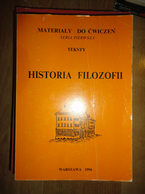 Historia filozofii (tom 1 i 2) Materiały do ćwiczeń, seria pierwsza – red.H.Puszko, A.Miś