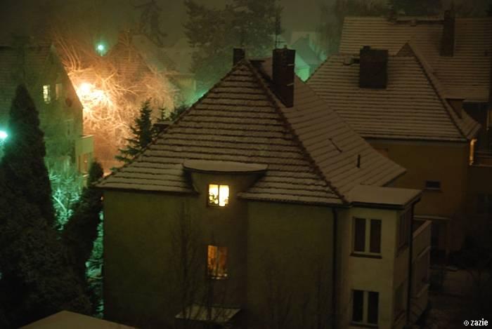 zima w mieście Breslau.