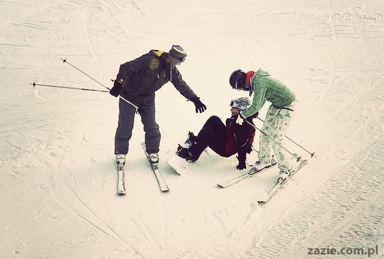 żarty żartami, ale w końcu trzeba się trochę polansować z nartami (4)