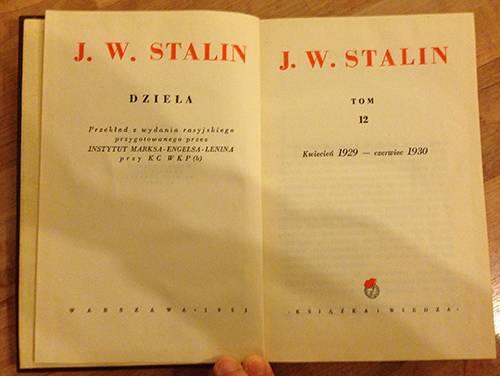 Józef Stalin, Dzieła, tom 12, Kwiecień 1929 – Czerwiec 1930