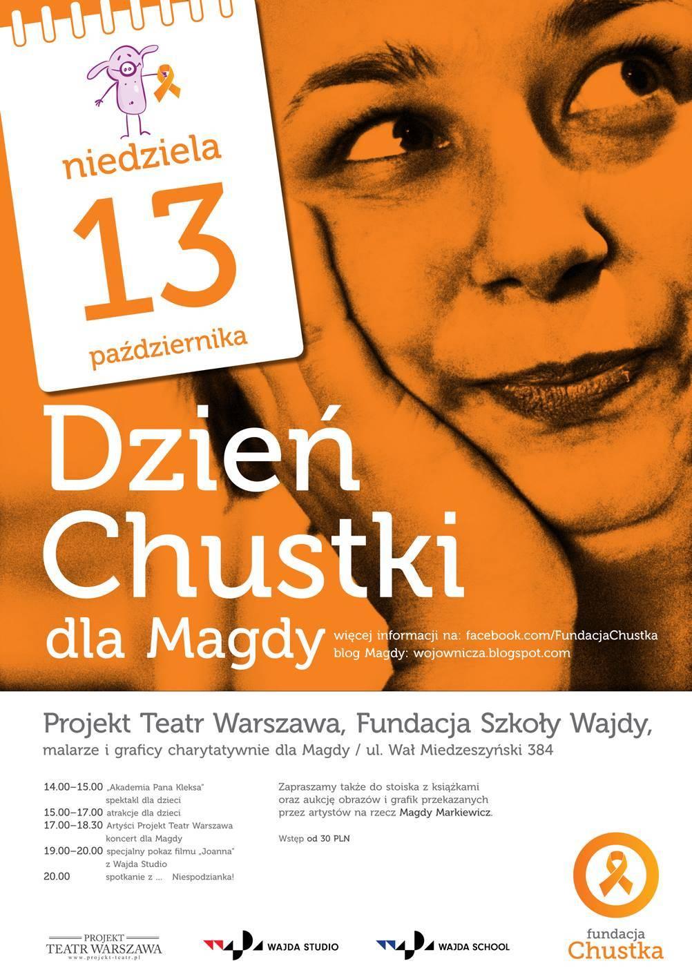 """Chcecie obejrzeć film dokumentalny """"Joanna"""" w reż. Anety Kopacz? Przyjdźcie na DZIEŃ CHUSTKI w Teatrze Projekt Warszawa."""