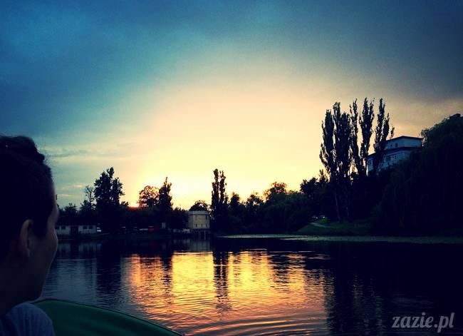 jeziorko kamionkowskie w parku skaryszewskim