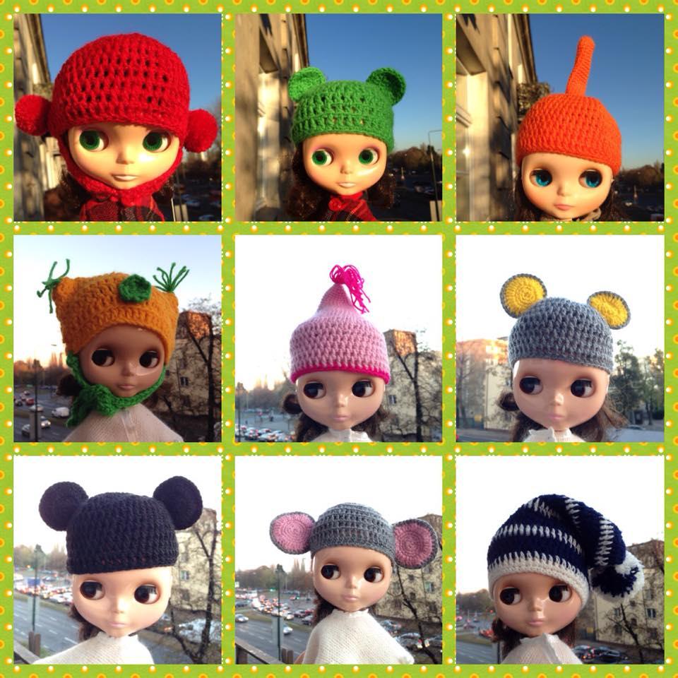 WIELKA WYPRZEDAŻ – szydełkowe czapy, czapki i czapeczki dla lalek Blythe