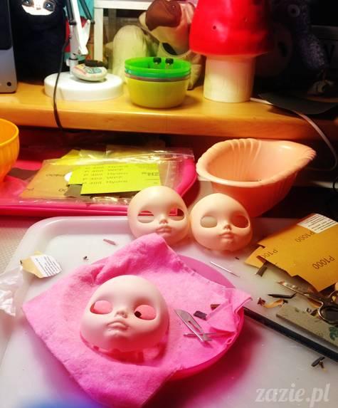 lalki Blythe Zazie dolls przerabianie customizacja lalek Blythe
