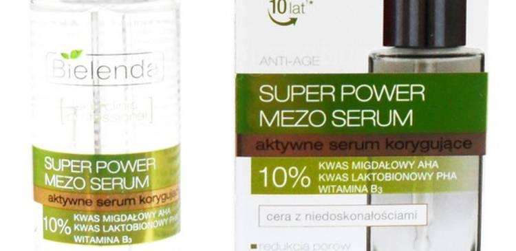 [recenzja]   Bielenda, Super Power Mezo Serum (aktywne serum korygujące z 10% kwasem migdałowym)
