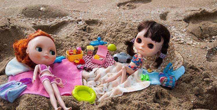 dwa lata temu w Barcelonie – plażowanie Orkowe