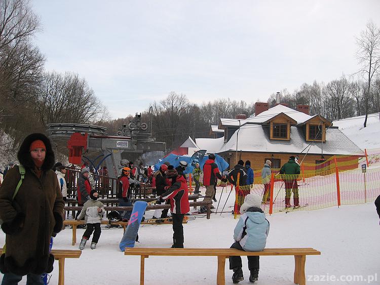stok narciarski w Parchatce