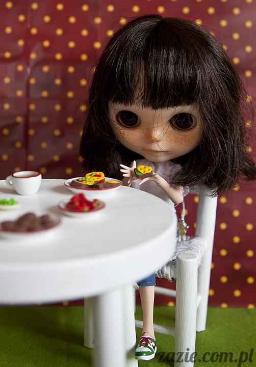 Orka Blythe Simply Chocolate Dollina Lalek Zazie niedzielny poranek