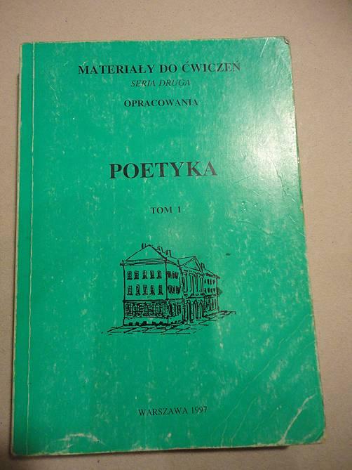 Poetyka Materiały Do ćwiczeń Seria Druga Opracowania