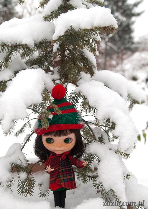 lalka Blythe doll Orka Simply Chocolate custom by Zazie winter first snow
