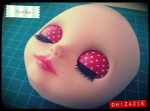 customization repaint custom blythe doll ooak simply vanilla by Zazie Oh!Zazie