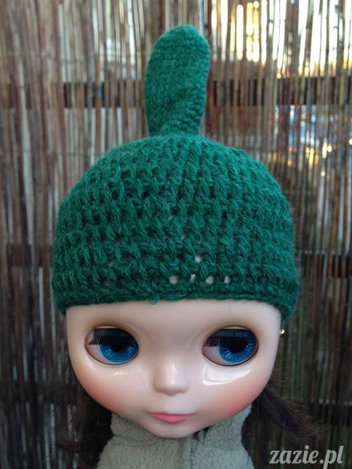 szydełkowe czapki i czapeczki dla lalki Blythe