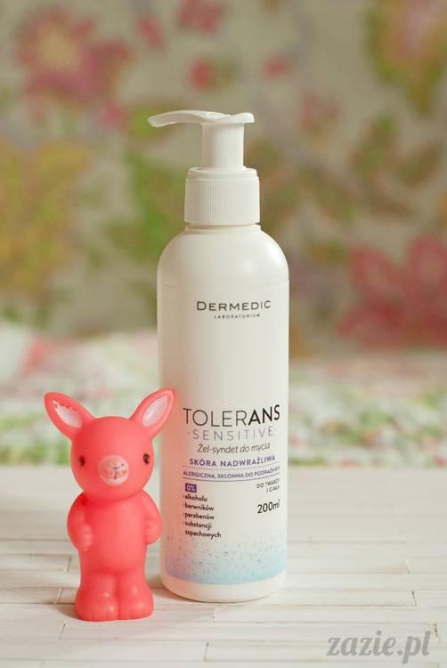 recenzje i testy kosmetyków, opinie o kosmetykach, Dermedic Tolerans sensitive żel syndet do mycia skóra nadwrażliwa