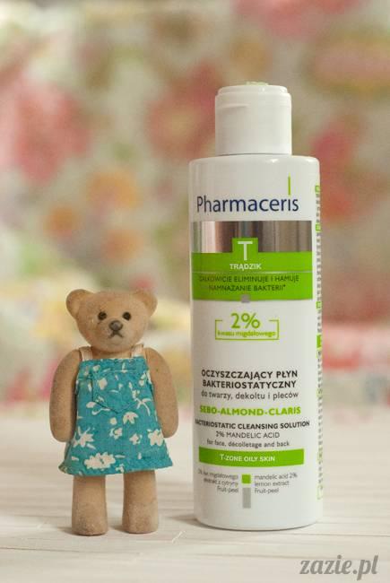 recenzje kosmetyków, opinie o kosmetykach, Pharmaceris T, Sebo Almond Claris, płyn oczyszczający bakteriostatyczny z 2% kwasem migdałowym