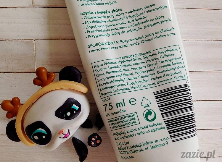 recenzje i testy kosmetyków, opinie o kosmetykach, Ziaja Liście Manuka, pasta do głębokiego oczyszczania twarzy przeciw zaskórnikom
