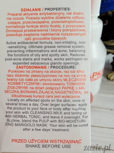 blog kosmetyczny, recenzje i testy kosmetyków, opinie o kosmetykach, jadwiga polska papka do cery trądzikowej