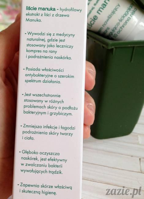 blog kosmetyczny, recenzje i testy kosmetyków, opinie o kosmetykach, ziaja oczyszczanie liście manuka krem nawilzajacy korygujaco sciagajacy