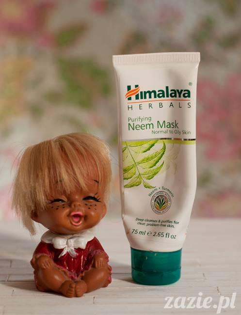 blog kosmetyczny, recenzje i testy kosmetyków, opinie o kosmetykach, himalaya neem mask maska z_miodli indyjskiej