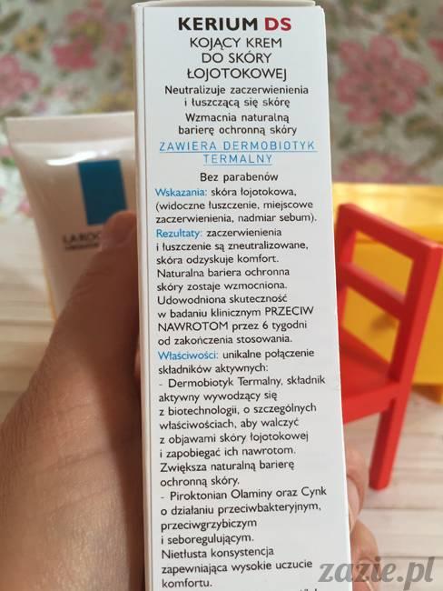 blog kosmetyczny, recenzje i testy kosmetyków, opinie o kosmetykach, la roche posay kerium ds kojacy krem do skory lojotokowej