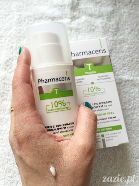 blog kosmetyczny, recenzje i testy kosmetyków, opinie o kosmetykach, leczenie trądziku, cera tłusta, cera problematyczna z niedoskonałościami, Pharmaceris, Krem z 10% kwasem migdałowym sebo almond peel